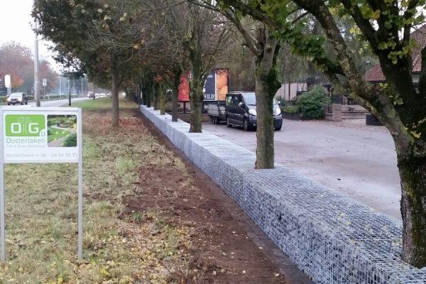 Afbakening parkeerplaats schanskorf
